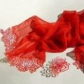 Lace Fashion Accesories red scarf