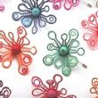 Little flower lace brooches